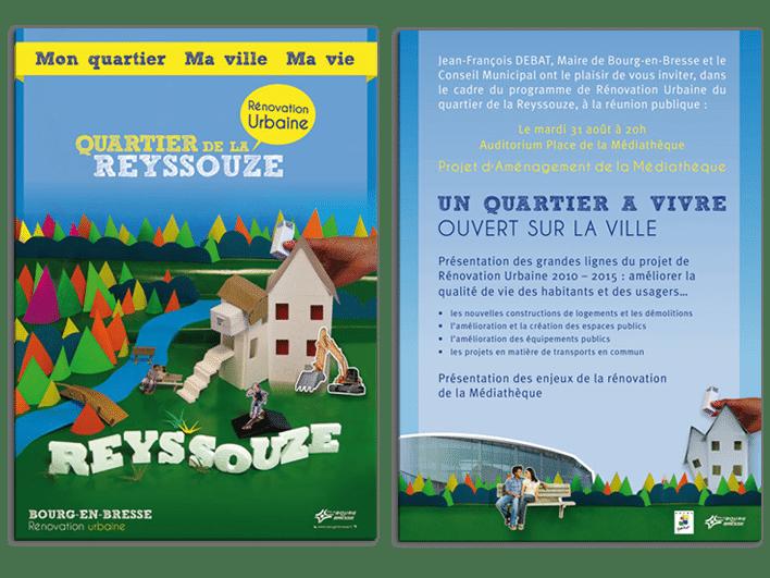 création dépliant pour Bourg-en-Bresse
