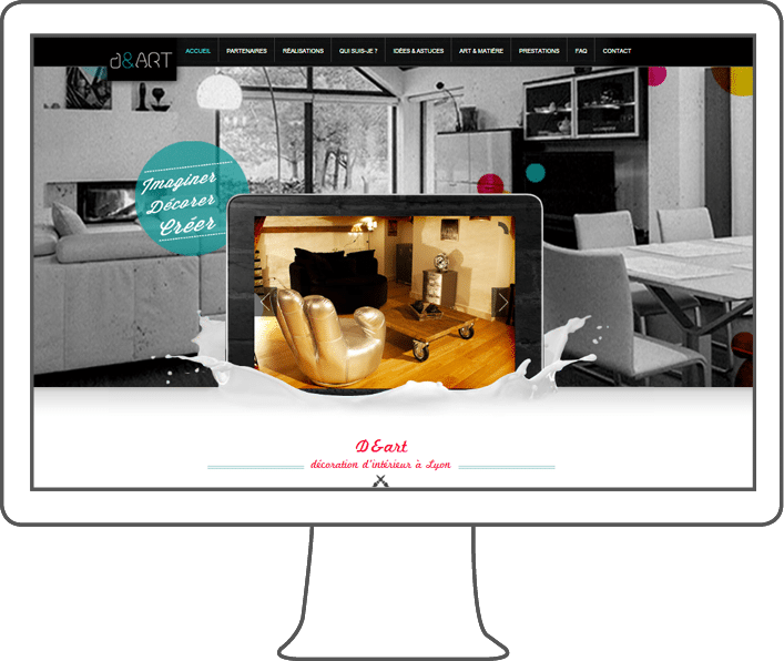 création site internet D&art, webdesigner lyon