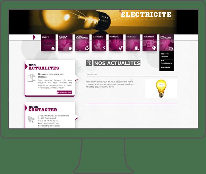 création site internet Edem, webdesigner Lyon