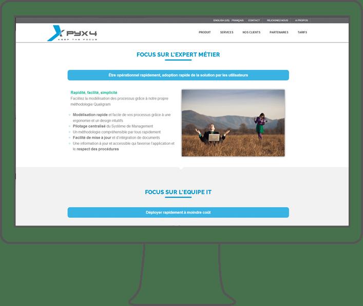 intégration web Pyx4, intégrateur web à lyon
