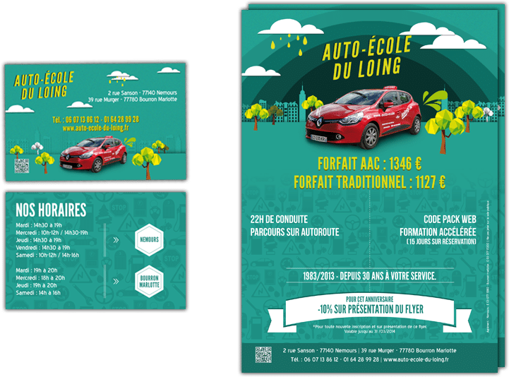 Cration Flyer Auto Cole Graphiste Indpendant Lyon