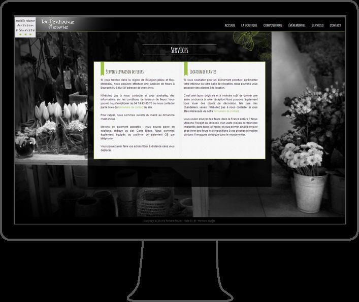 création site internet la fontaine fleurie, webdesigner lyon