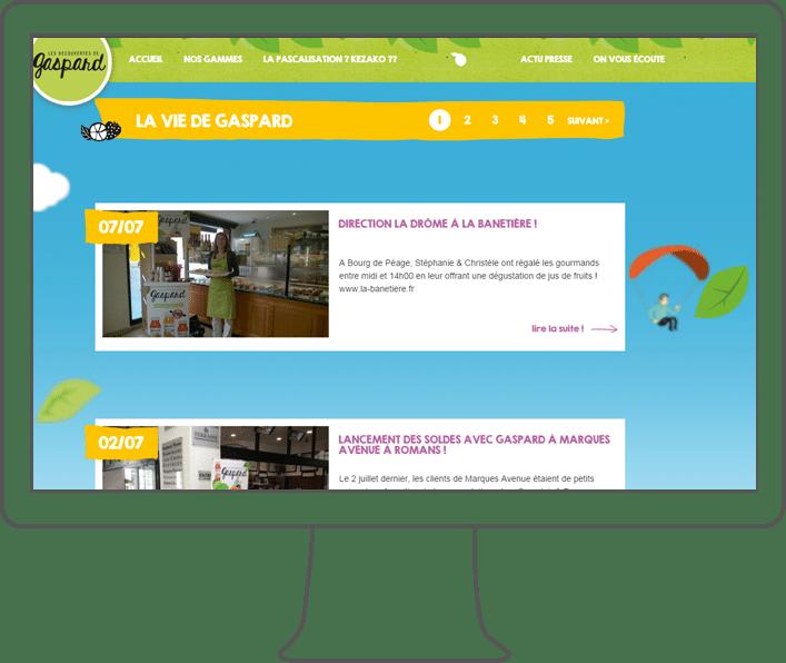 graphisme site web gaspard