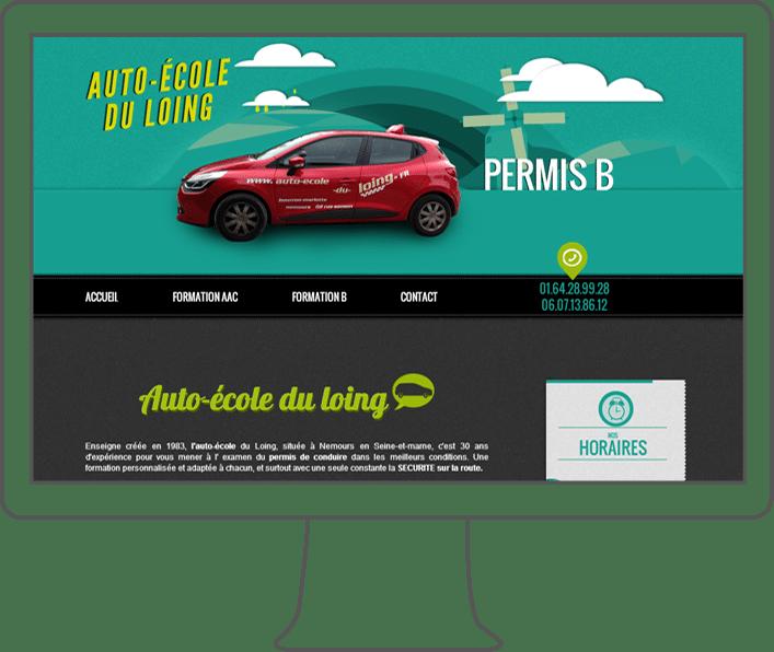 création site internet auto-école, webdesign