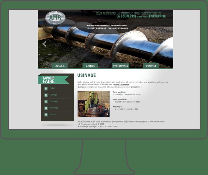 création site internet AMR, webdesigner lyon